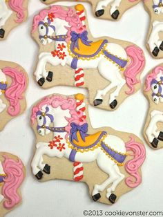 royal icing carousel horse