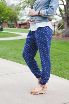 Ladies Harem Pants Sewing Pattern at Sewbon.com