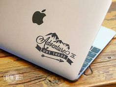 Adventure is out there  Laptop Decal  Laptop by Cutthesheet