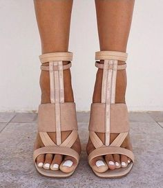 shoes nude heels camel white brown strappy heels sandals high heels leather sandals tan leather nude pumps NINE WEST Heels Outfits, Mode Outfits, Nude Heels, Shoes Heels, Nude Sandals, Sandal Heels, Brown Strappy Heels, Heeled Sandals, Tan High Heels