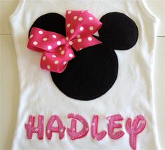 Minnie Mouse Personalized Tank Disney Trip on Etsy, $30.00