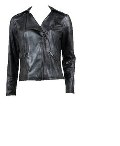 Glam Biker Jacket from Jockey P2P's new Fall 2012 line.  Looks like leather, but is machine-washable fabric!
