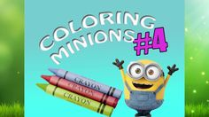 Coloring Driving Minions #4 Coloring Book For Kids/ Maya TZ