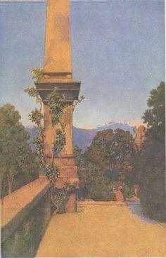 In the Gardens of Isola Bella, Lago Maggiore - Maxfield Parrish