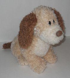 """Gund Best Friends Puppy Dog Plush Stuffed 11"""" Shaggy Cream Brown Animal Toy #GUND"""