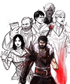 """samluu: """"Some of my old Dragon age drawings lumped together with some old sketches I never got around to finishing."""""""