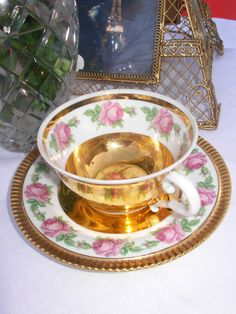 Antique French = Gold tea-cup