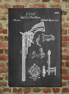 Hey, I found this really awesome Etsy listing at https://www.etsy.com/listing/195234280/colt-1839-pistol-patent-wall-art-poster
