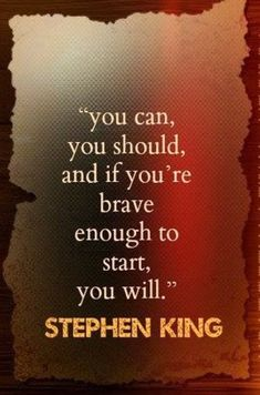 Hell yes! Stephen King is such a writing inspiration! Writing Quotes, Writing Prompts, Book Quotes, Me Quotes, Funny Quotes, Author Quotes, Writing Advice, Film Quotes, Oscar Wilde
