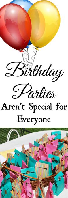 When did birthday parties start being more about the people coming to the party than the person being celebrated? Let's reevaluate the situation.