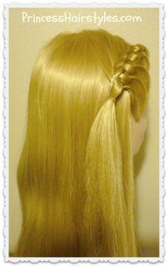 Cute knotted braid tutorial