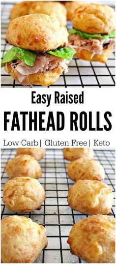 Keto Fathead Rolls- Perfect for Sliders, Sandwiches and More! - Low Carb Foods - Keto Fathead Rolls- Perfect for Sliders, Sandwiches and More! Keto Fathead Rolls- Perfect for Sliders, Sandwiches and More! Ketogenic Recipes, Paleo Recipes, Low Carb Recipes, Bread Recipes, Recipes Dinner, Pescatarian Recipes, Fat Head Recipes, Muffin Recipes, Dessert Recipes