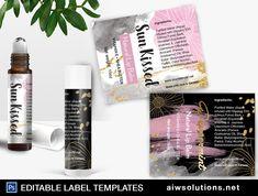 Perfume Roller Ball Label Template,Lip Balm Tube Label template , essential oil roll on, water colour label, edit able lip balm label-id053 #FaceCareLabel #MassageOilsLabel #ProductLabel #8ozLabelTemplate #MistsLabelTemplate #ModernLabel #EditableBathLabel #HandCareLabel #FragranceLabel #LipBalmLabel