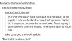 The first time dean died