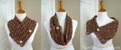 Flower Patch Button Wrap (Free Crochet Pattern)
