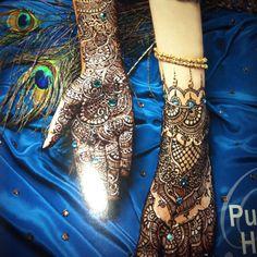 Wedding henna peacock