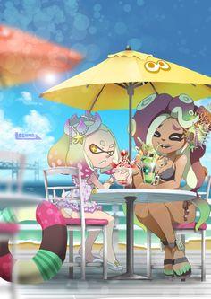 Marina is my favorite Splatoon character by far Splatoon Squid, Nintendo Splatoon, Splatoon 2 Art, Splatoon Comics, Splatoon Switch, Marina Splatoon, Pearl And Marina, Lolis Neko, Squid Girl