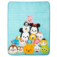 Tsum Tsum throw blanket. Click to order yours today.