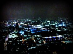 After work, to the top of The Shard for the first time.  This view is westward towards Saint Pauls, the Millenium Bridge and PO Tower on horizon