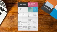 A Brand development case study for Green Energy by Heavenly, A Branding Agency with offices in London, Cardiff and New York Invoice Layout, Invoice Design, Branding Design, Business Stationary, Stationary Design, Editorial Layout, Editorial Design, Form Design, Web Design