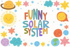 Funny solar system. (vector) by lesyaskripak on @creativemarket