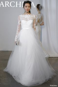 Marchesa #Bridal Spring 2015 #Wedding Dresses: illusion long sleeve #weddingDress #weddingGown  http://www.weddinginspirasi.com/2014/12/29/marchesa-bridal-spring-2015-wedding-dresses/