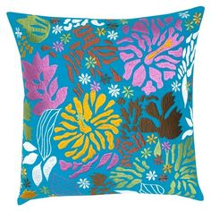 I pinned this Orissa Suzani Pillow in Turquoise from the India's Heritage event at Joss and Main!