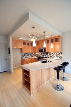 U Shape Kitchen Counters Design, Pictures, Remodel, Decor and Ideas - page 6...we like the ceiling