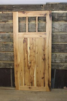 Hickory Mission Style Barn Door Room Dividers, made from Reclaimed Hickory Barnwood, and Widths and Custom Sizes, Made to Order Room Divider Doors, Room Dividers, Barn Door Hardware, Barn Doors, Barn Door With Window, Rustic Doors, Front Doors, Rustic Kitchen Island, Nyc
