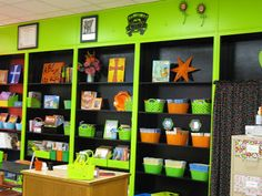 8 Classroom Makeovers YOU Can Do! Painted bookshelves- could use contact paper to back the shelves instead of paint.  www.deannajump.com