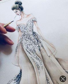 Dress Design Drawing, Dress Design Sketches, Fashion Design Sketchbook, Dress Drawing, Fashion Design Drawings, Fashion Sketches, Dress Illustration, Fashion Illustration Dresses, Fashion Drawing Dresses