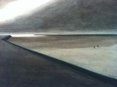 Léon Spilliaert. Dike and beach 1907