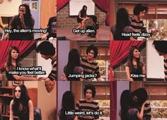 Victorious Nickelodeon, Icarly And Victorious, Victorious Quotes, Victorious Jade And Beck, Funny Quotes, Funny Memes, Hilarious, Tv Memes, Tori And Beck