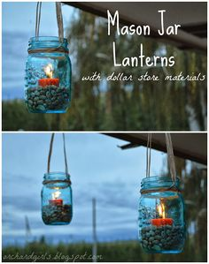 43 DIY Patio and Porch Decor Ideas, 43 DIY Patio and Porch Decor Ideas DIY Porch and Patio Ideas -Mason Jar Lanterns - Decor Projects and Furniture Tutorials You Can Build for the Outdoo. Mason Jars, Mason Jar Lanterns, Lanterns Decor, Ideas Lanterns, Jar Candles, Porch Lanterns, Camping Lanterns, Candle Lanterns, Diy Porch