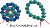 ~Simple Beaded Clasp~ Inc instructions~ jewelry project step 7