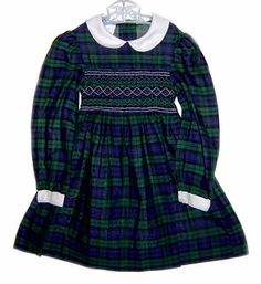 Polly Flinders dress - first day of school dress- when I was little I lived in smocked dresses!