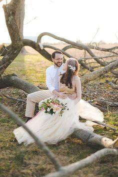 fallen tree couple portraits