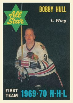 In Fair-Good Condition Blackhawks Hockey, Chicago Blackhawks, Hockey Cards, Baseball Cards, Bobby Hull, Hockey Players, One Team, Ice Hockey, Nhl