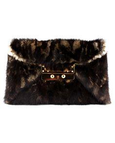 VBH Leopard Fur Clutch!