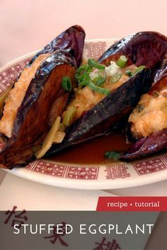 Chinese Eggplant Recipes, Chinese Seafood Recipe, Eggplant Dishes, Chinese Food, Chinese Meals, Chinese Recipes, Veggie Recipes, Asian Recipes, Cooking Recipes