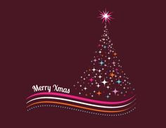 Arbre coloré de Noël fait des étoiles