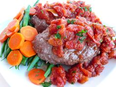 Classic meatloaf with carrots and fresh green beans Healthy Meals, Healthy Recipes, Fresh Green, Fresh Vegetables, Pot Roast, Meatloaf, Feel Better, Gourmet Recipes, Green Beans