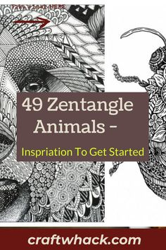 Zentangle is doodling taken up to a sophisticated level of drawing. Craftwhack will show you how it is done. The results are so amazing as you view them you would think it is difficult to do. Not at all. We will share some ideas of animals you would enjoy drawing. Just like doodling in school was a chilling activity you will find these zentangle animal drawings quite a relaxing activity. It's really worth doing. You should make these…#zentangleanimals #zentangle #doodlezentangle Easy Art Projects, Drawing Projects, Drawing Ideas, Zentangle Elephant, Zentangle Animal, Crafts For Kids To Make, Art For Kids, Elephant Template, Animal Outline