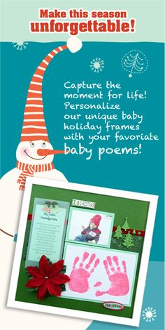 This would be really good for Sunday school or preschool Christmas gift for parents. Preschool Christmas, Christmas Activities, Christmas Art, Christmas Ideas, Crafts For Boys, Projects For Kids, Baby Memory Frame, Handprint Poem, Baby Poems