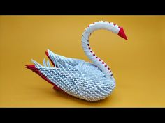 Origami Eagle, 3d Origami Swan, Origami Paper Art, Diy Paper, Youtube, How To Make