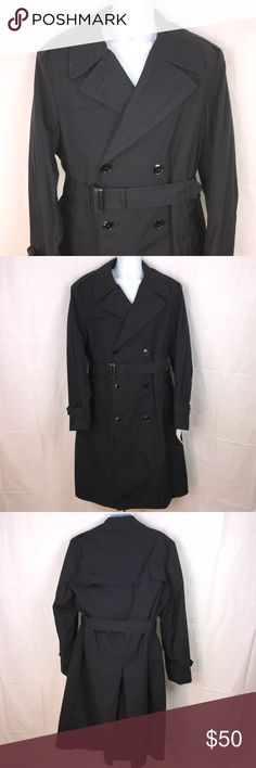 NWT Whaling Mfg Co. Men's All-Weather Coat Blk 42R NWT Whaling Mfg Co. Men's All-Weather Coat Black 42R. Made for DPSC in the USA. Zip in liner. Belted. Whaling Mfg Co Jackets & Coats
