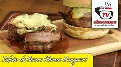 Receita de Vulcão de Bacon (Bacon Burguer) - Tv Churrasco
