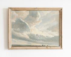 Cloud Art, Décor Antique, Antique Paint, Nursery Paintings, Nursery Wall Art, Nursery Prints, Oil Paintings, Eclectic Paintings, Nursery Decor