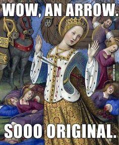 An arrow, so original