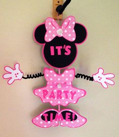 Minnie Mouse Inspired Party Door Sign by CutestBowsOnTheBlock, $20.00
